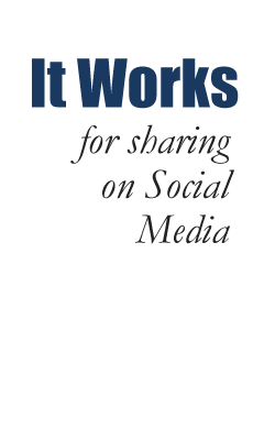 It Works for sharing on Social Media