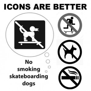 icons vs bad punctuation